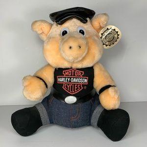 Harley Davidson Biker Hog Pig Plush Vintage 1998